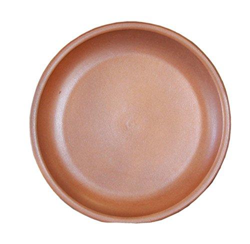Keramik Untersetzer groß für Blumen-Topf rund frost-sicher Vogeltränke wasser-dicht Ø 42 x 5 cm Stellfläche 36 cm Form 099.042.20 hell - Keramik-topf Großer