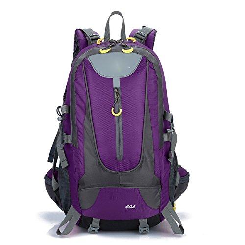 Rucksack Rucksack Wandern Outdoor Bergsteigen Reisen Casual Daypack Hochleistungs-Taschen,Black Purple