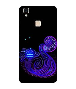 PrintVisa Scorpio 3D Hard Polycarbonate Designer Back Case Cover for Vivo V3