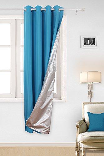 Deconovo Rideau Bleu Double Face Thermique à Oeillets Isolant Thermique 135x240cm