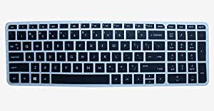 kmltail Soft Silicone Keyboard Cover Protector Skin forHP Notebook 15-ac118tu 15.6 inch laptop-(Semi Black)