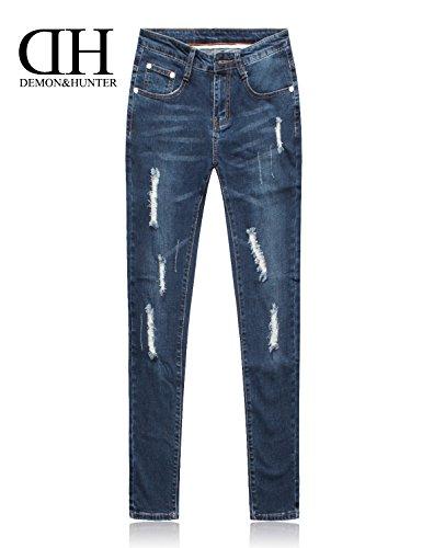 Demon&Hunter 608 Series Donna Skinny Jeans E8078 x Blu x Normal