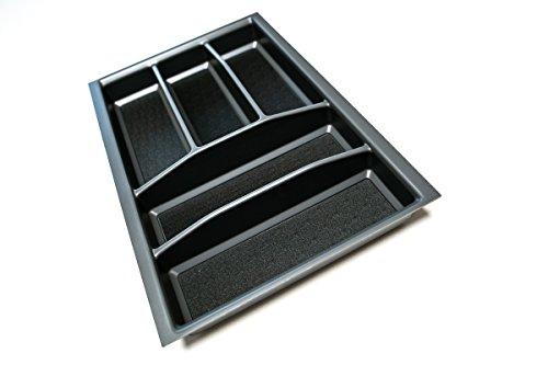 Besteckkasten für 40er Schublade | Besteckeinsatz mit Antirutschboden | Alle gängigen Maße wählbar | Made in Germany (anthrazit, 310 mm x 480,5 mm (40er Grass))