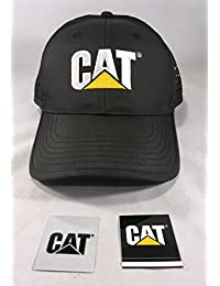 Cat Black Poly Cap w/ Ventilated Sides