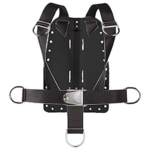 Storm Aluminum Backplate w/Harness and Crotch Strap for Technical Scuba