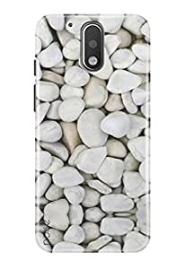 Noise Back Cover Case for Moto G4 Plus (Gen 4) / 4th Generation (White Marbles) (GD-17)