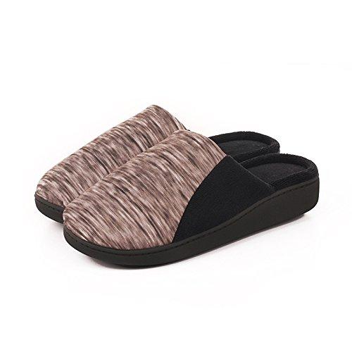 In autunno e inverno, casa pantofole, femmina, cotone, morbido, confortevole, caldo, insapore, peluche, £ ¬ con la suola antiscivolo Grey