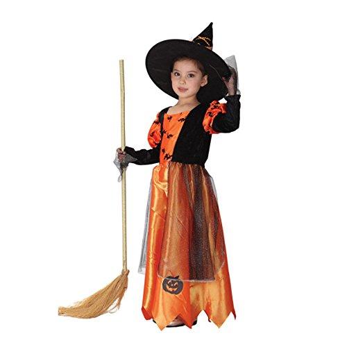 Halloween Hexe dekorative Kürbis Kostüm Kinder Bühne Performance Tanz Hexe Cosplay Kostüm Festival / Halloween / Weihnachten, L