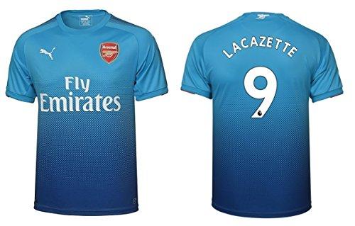 Trikot Kinder Arsenal London 2017-2018 Away - Lacazette 9 (140) (Arsenal-fußball)
