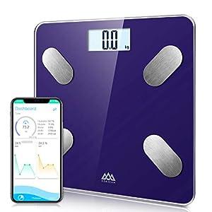 SENSSUN Bascula de Baño Digital Grasa Corporal,balanzas digitales bluetooth,Analiza la composición corporal,con 13…