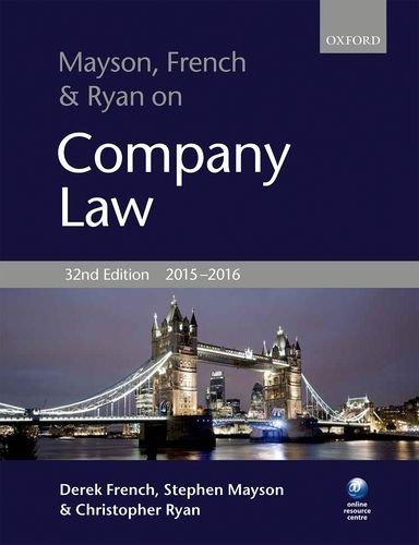 Mayson, French & Ryan on Company Law by Derek French (2015-08-06)