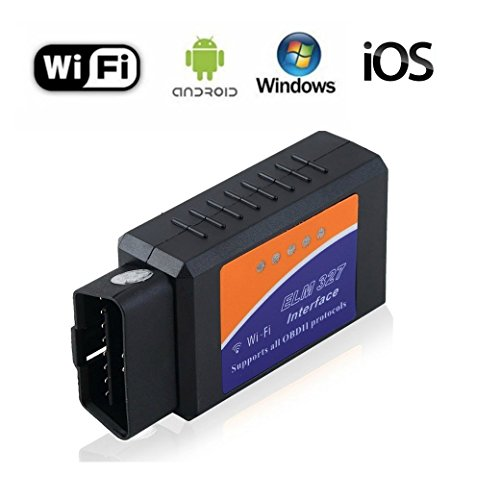 Coche WIFI OBD 2 OBD2 escáner lector de código de la herramienta, vehículos inalámbrico ELM327 culpa escáner adaptador auto del motor del cheque luz clara OBDII herramienta de diagnóstico para iphone iOS Android Windows Apple para todos los coches