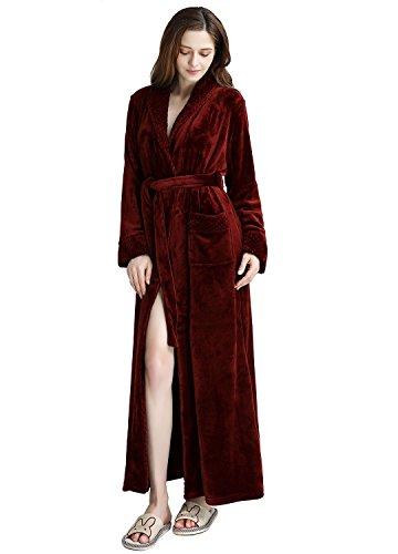 Womens Long Robe Fleece Dressing...