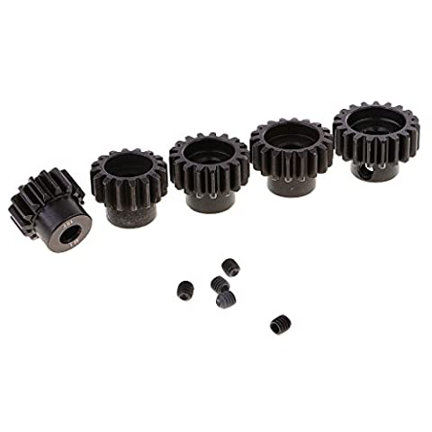 Gazechimp 5 Stück 15t-18t Motorritzel Gear-Set für 1/8 Rc Car Brushed/Brushless Motor