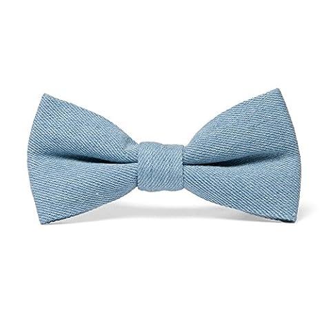 Hochwertige vorgebundene Jeans Fliege 100% Denim – Blau – vorgeknotete Schleife aus Jeansstoff – Ideal für das Freizeit-Outfit by VON FLOERKE