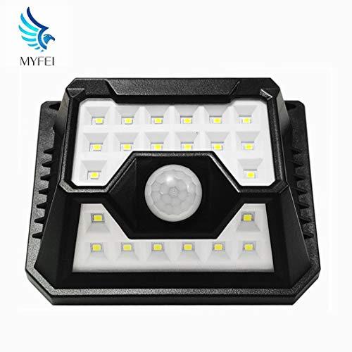 MYFEI Solar luci Esterne 32 Wireless Security LED con sensore di Movimento 120 ° grandangolare IP65 Impermeabile Facile da installare Parete Montato