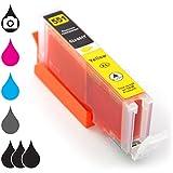 Druckerpatrone Tintenpatrone CLI-551Y XL mit Chip Füllstandsanzeige kompatibel mit Canon Pixma Tintenstrahl-Drucker – 15ml Yellow gelb