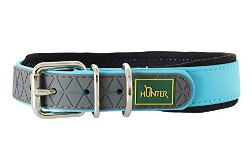 HUNTER CONVENIENCE COMFORT Hundehalsband, Kunststoff, Neopren, wasserfest, schmutzabweisend, gepolstert, 50, türkis
