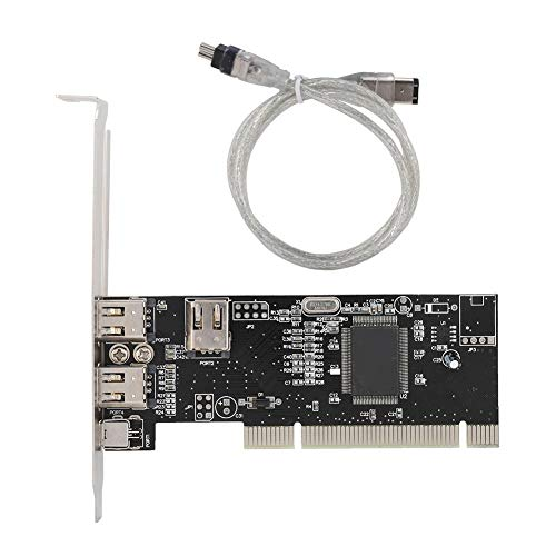 Tonysa 1394 400Mbps Tarjeta Capturadora de Video PCI Digital Interfaz PCI, Tarjeta Captura de Video HD DV Resolución 720 * 576 para Windows
