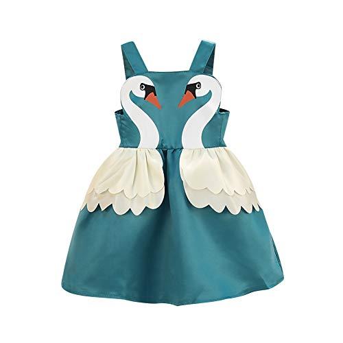 Cartoon-Swan-Kleid für kleines Mädchen im Alter von 1-5 Jahren, ärmelloses Armband für Kinder ()