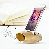 OULII Cellulare ricarica Dock legno Jelly pettine Desk Stand telefono titolare suono amplificatore, regalo di Natale