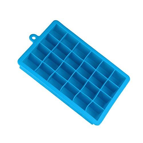 Quadratisch Eiswürfelform,Jaminy Eiswürfel Heißes Silikon Gefrier Form Bar Pudding Gelee Schokoladenhersteller Form 24 Ice Cube (Himmelblau)