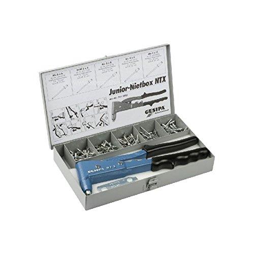 Kayser GmbH - Set pinza rivettatrice e rivetti, 350 pz., 275 x 145 x 40 mm