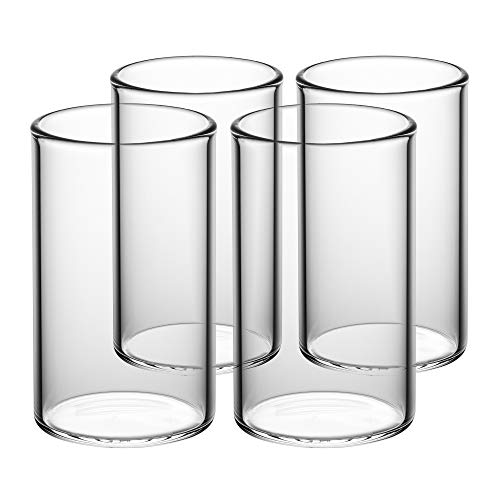 GAIWAN Trinkgläser 4er Set I Hochwertige Wassergläser mit Stil I Große Gläser für Tee, Cocktail, Longdrinks oder Latte Macchiato (ICEGOLD330 I 0,33l)
