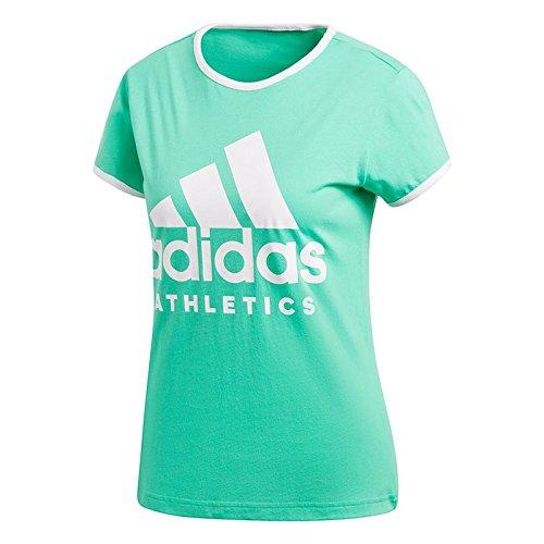 adidas W SID Slim Tee grün - M (Damen Fitness Athletic Champion)