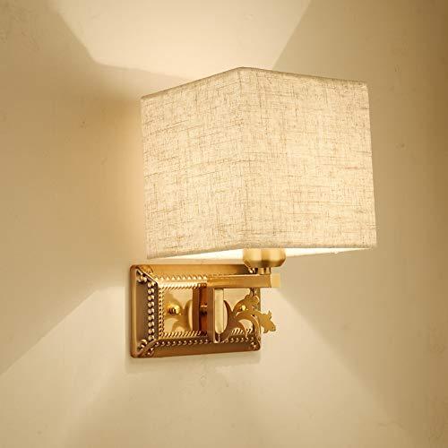WEII Voller Kupfer Wandleuchte Schlafzimmer Nachttischlampe Startseite Wohnzimmer Gang Korridor TV Wandleuchte,Stil 1,Einheitsgröße -