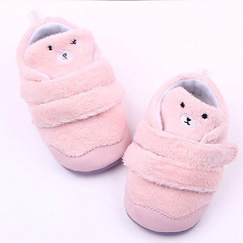 LvRao Neugeborenes Baby Winterschuhe Weich Angenehm Warmen Zottigen Schuhe Klein Säugling Lauflernschuhe Rosa