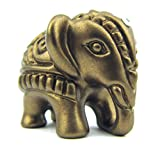 mareu-design Deko-Elefant, Mini-Elefanten-Figur, MADE WITH SWAROVSKI® ELEMENTS, Deutsche Handarbeit, Geschenkidee zur Geburt, Taufe, Geburtstag, Glücksbringer (bronze)