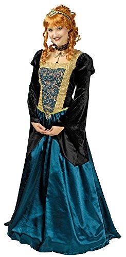 Hochwertiges Burgfräulein Josephine Damen Kostüm Gr. 44 46 - Wunderschönes Mittelalter Lady, Prinzessin oder Königin Kostüm für Karneval, Ritterfest oder Mottoparty (Für Erwachsene Hofdame Kostüm)
