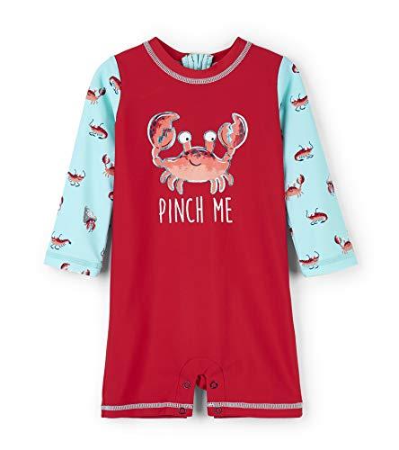 Hatley One-Piece Rash Guard Swimsuits Maillot, (Silly Crustaceans), (Taille Fabricant: 3-6 Mois) Bébé garçon