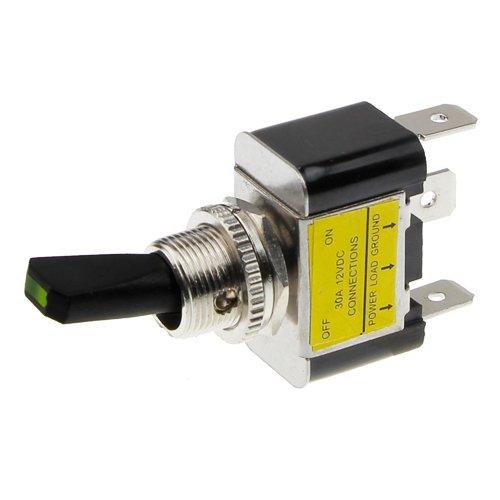 REMCO Kippschalter - Schalter Ein/aus 12V LED Grün - 30a Kippschalter