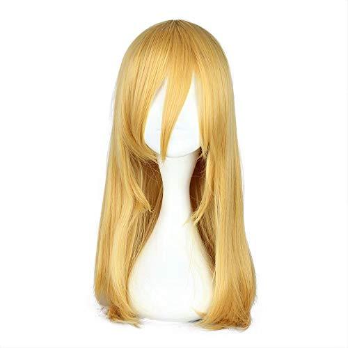COSPLAZA Frauen Mittlere Länge Blond Gelb Gerade Anime Convention Halloween Disguise Kostüm Cosplay Perücke