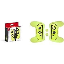 Nintendo Switch - Joy-Con Giallo Neon + Kit di Impuganture Joy-Con (Giallo) AmazonBasics