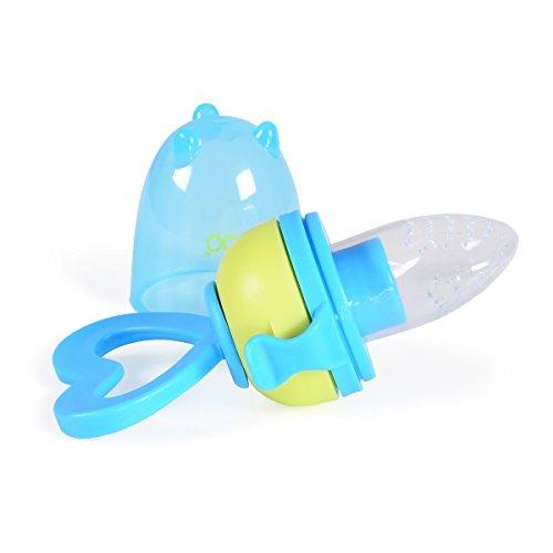 Fruchtsauger F1333 blau für Beikostanfänger ab 6 Monate, Silikonsauger, BPA-frei