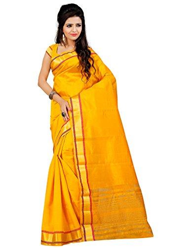 Roopkala Silks & Sarees Art Silk Saree (Ds-211_Yellow)