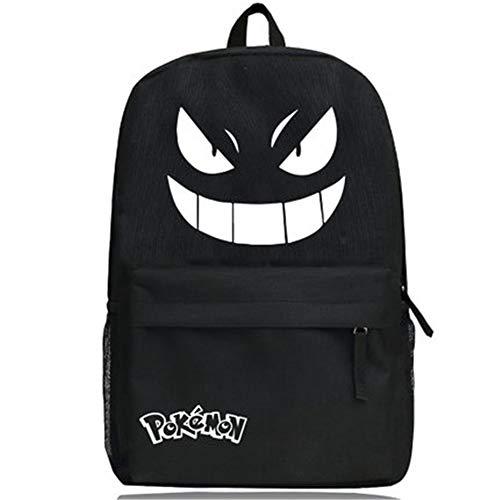 Kostüm Homme De Dos - HNdrcc Tasche Anime Freizeittasche Reisetasche/Held Charakter Comic Rucksack Tasche/PIPI Beauty Campus Mode Tasche leuchtende kreative Tasche/Monster Spiel -G/One Size