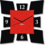 2 O Clock Red & Black Wall Decorative Cl...