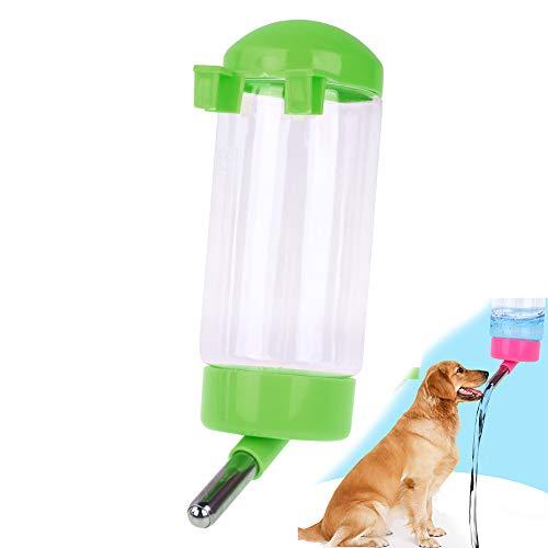 500 ML Pet Wasserflasche Hängen Kein Tropf Trinken Dispenser für Welpen Katze Kaninchen Kleine Tiere, automatisch Fütterung Wasser (grün)