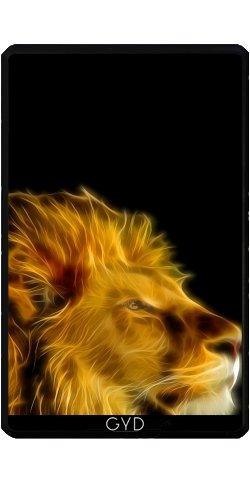 (Hülle für Kindle Fire 7 pouces (2012 Version) - Leuchtende Löwen by Ancello)