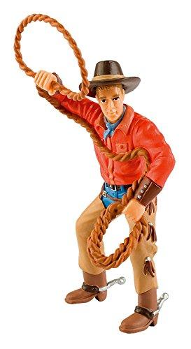 (Bullyland 80673 - Spielfigur, Cowboy mit Lasso, ca. 12 cm)