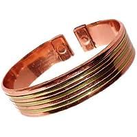 Damen oder Herren Magnet Kupfer und Messing Linien Armband mit Präsentation Geschenkkarton preisvergleich bei billige-tabletten.eu