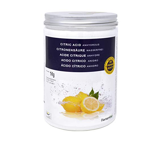 NortemBio Citric Acid 1 Kg. Powder Anhydrous, Best for Bath Bombs. 100% Pure. For Organic Production. Developed in UK.