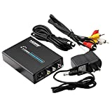 HermosaUKnight HDMI-zu-Composite-AV + S-Video-Konverter-Umsetzer-Adapter DVD-Full-HD-1080P-Cinch/CVBS/L/R-Video-Konverter-Tools