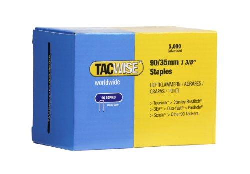 Tacwise 0310 Boîte de 5000 Agrafes à couronne étroite 35 mm Type 90
