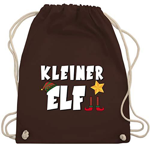 Weihnachten Kind - Partnerlook Kleiner Elf - Unisize - Braun - WM110 - Turnbeutel & Gym Bag