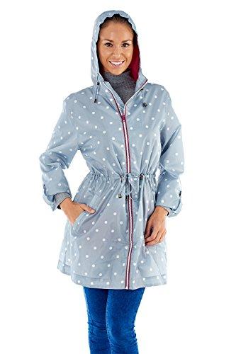 Pro Climate Damen Parka Regenjacke blau blau Gr. L, Spot - Silver/Grey